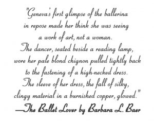 Fashion Passages from The Ballet Lover by Barbara L. Baer
